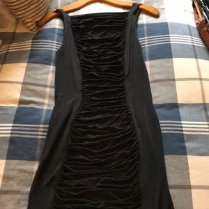 Rushed backless dress.